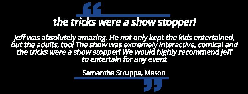 Magic Show for 8th Birthday